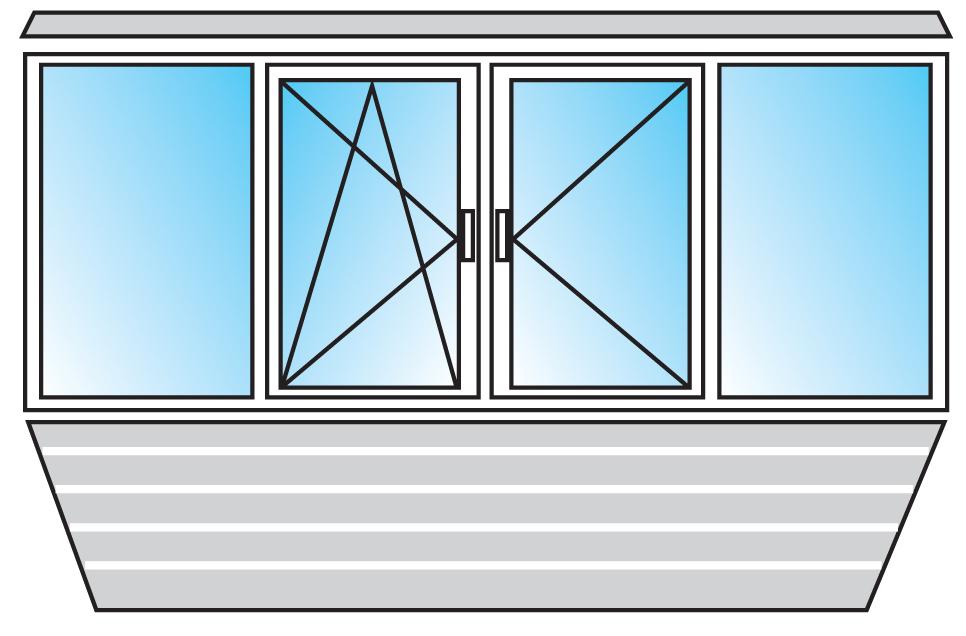 Пластиковые окна - остекление балконов и лоджий в уфе.